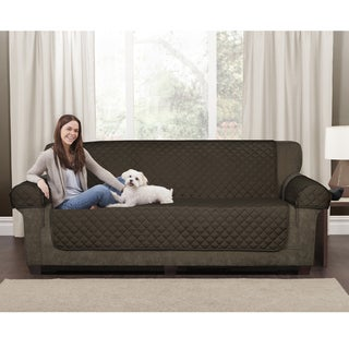 Maytex Brown Quilted Suede Waterproof 3-piece Sofa Pet Cover