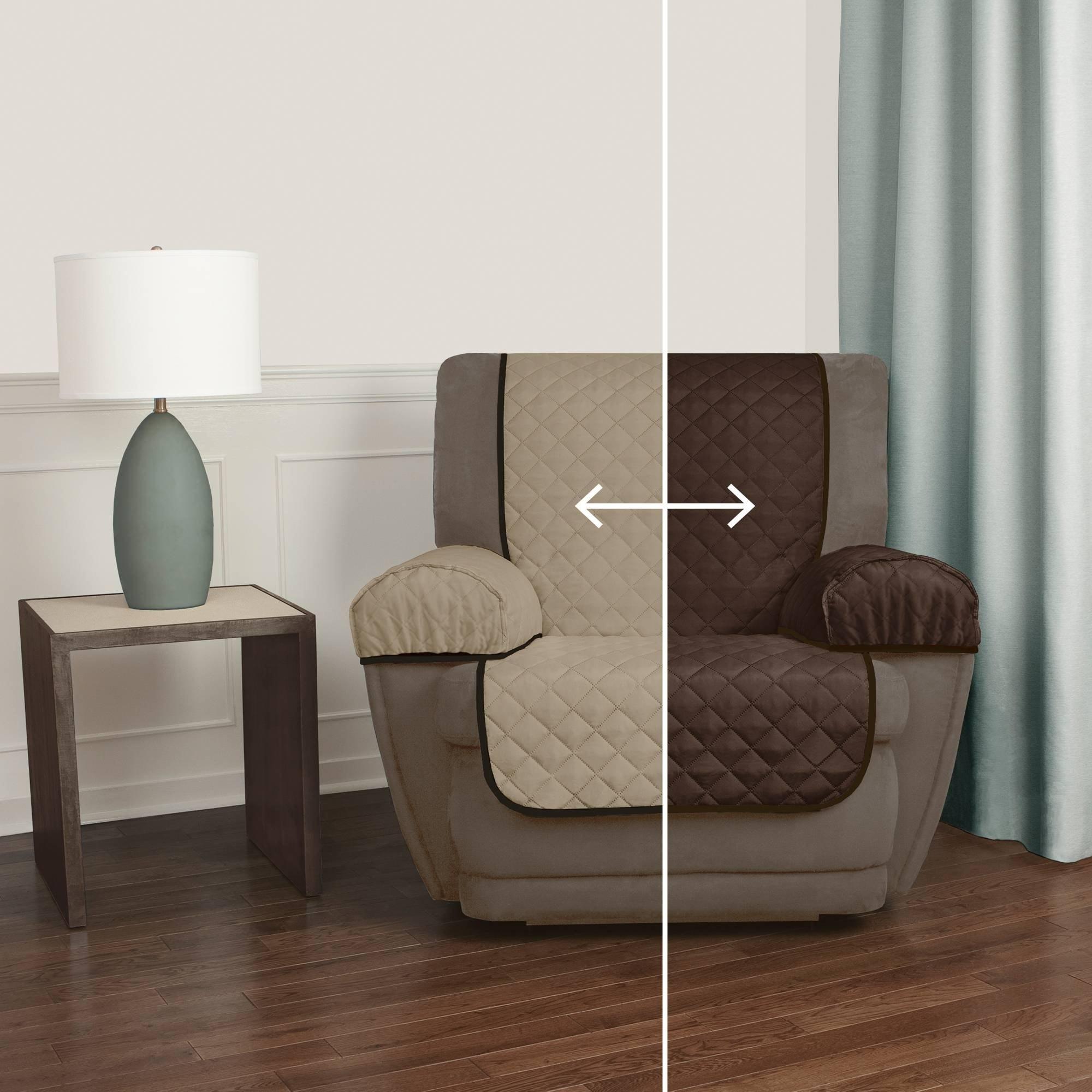 Mainstays Reversible Microfiber Fabric Pet//Furniture Recliner Chair Cover