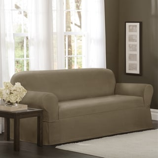 Maytex Torie 1 Piece Stretch Sofa Slipcover (Option: Tan)