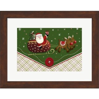DBK-Art Licensing 'Santa's Flying Button Ride' Framed Art