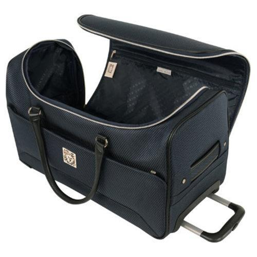 bc4fc5f1dd Shop Anne Klein Oslo Navy 22-inch Carry On Wheeled Duffle Bag - Free  Shipping Today - Overstock - 10696180