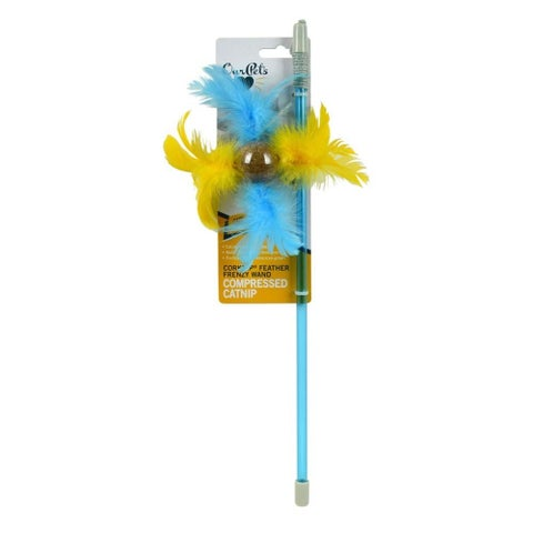 OurPet's Corknip Feather Frenzy Wand