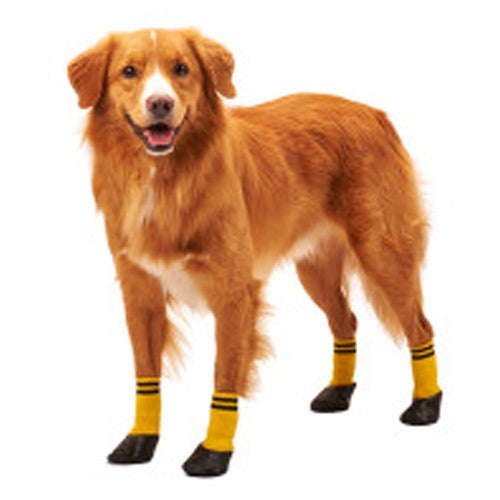 Ethical Fashion Pet Rainy Days Boot Sock (Small), Yellow