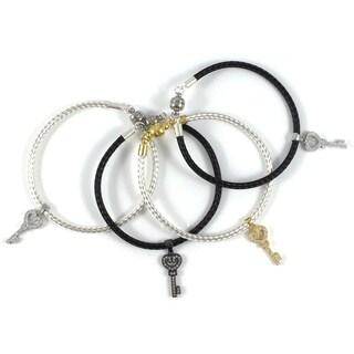 Bella Firenze CZ Key Charm Bracelet