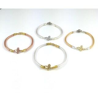 Bella Firenze Butterfly CZ Link Bracelet