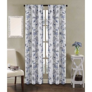 Dahlia Rod Pocket Curtain Panel Pair