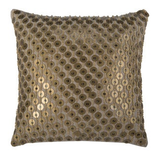 Rizzy Home 12 Inch Solid Sequined Accent Pillow