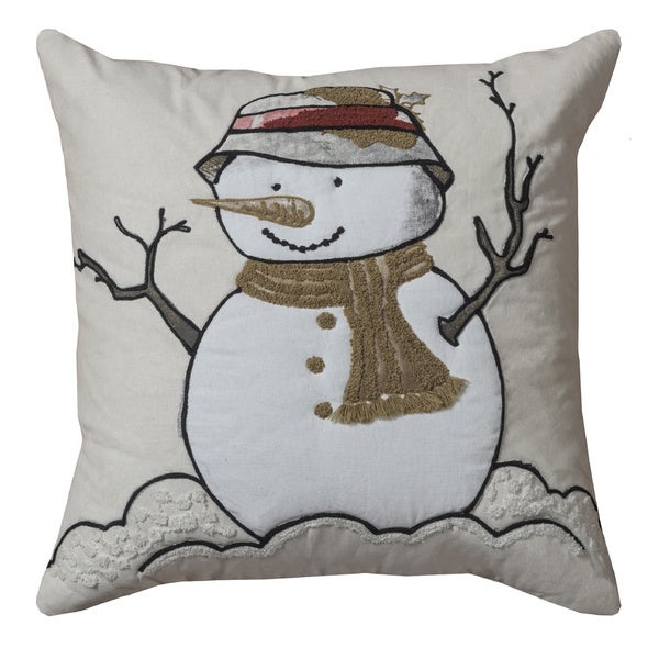 Shop Rizzy Home Holiday Collection 20-inch Throw Pillows ...