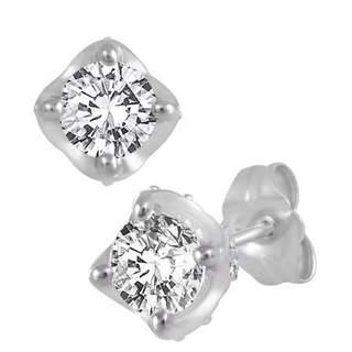 10k White Gold 1/2ct TDW Diamond Earrings