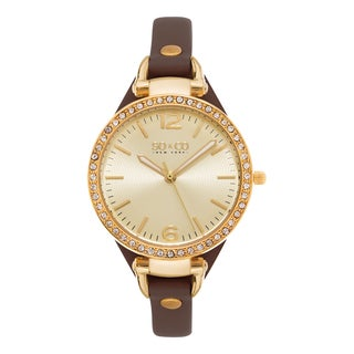 SO&CO New York Women's SoHo Quartz Brown Leather Strap Crystal Watch|https://ak1.ostkcdn.com/images/products/10696388/P17757953.jpg?_ostk_perf_=percv&impolicy=medium