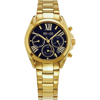 SO&CO New York Women's Madison Quartz Gold Tone Bracelet Watch