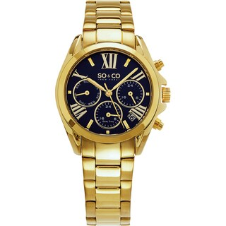 SO&CO New York Women's Madison Quartz Gold Tone Bracelet Watch