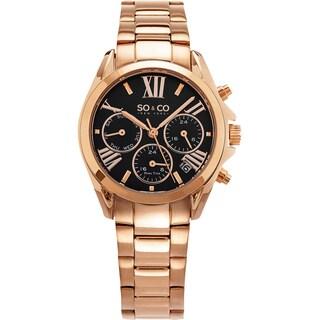 SO&CO New York Women's Madison Quartz Rose Tone Bracelet Watch