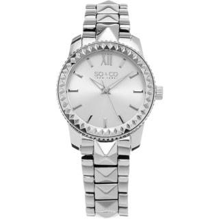 SO&CO New York Women's Madison Quartz Stainless Steel Crystal Bracelet Watch