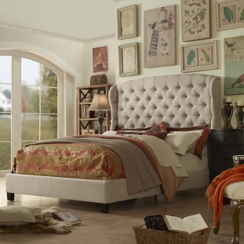 Moser Bay Furniture Feliciti Tufted Wingback Upholstered Bed