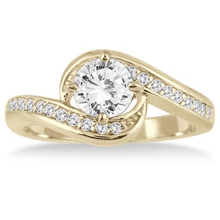 Marquee Jewels 14k Yellow Gold 1 1/4ct TDW Diamond Engagement Ring