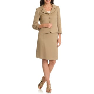 Tahari Arthur S. Levine Women's Textured  Skirt Suit