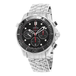 Omega Men's 212.30.44.50.01.001 'Seamaster300 Divers' Black Dial Stainless Steel Chronograph Swiss Automatic Watch