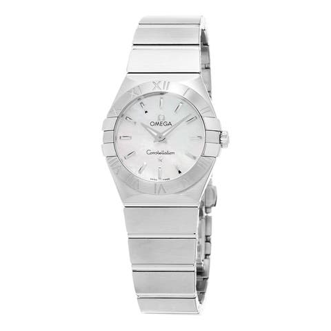 Omega Women's 123.10.27.60.05.001 'Constellation' Stainless Steel Watch