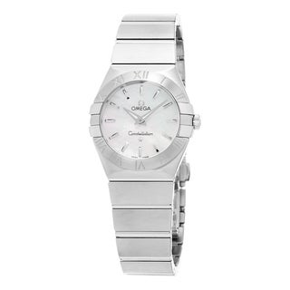 Omega Women's 123.10.27.60.05.001 'Constellation CC' Mother of Pearl Dial Stainless Steel Swiss Quar