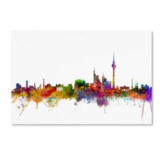 Michael Tompsett 'Berlin Germany Skyline' Canvas Wall Art
