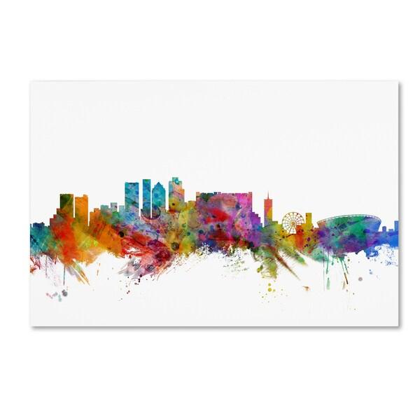Michael Tompsett 'Cape Town South Africa Skyline' Canvas Wall Art