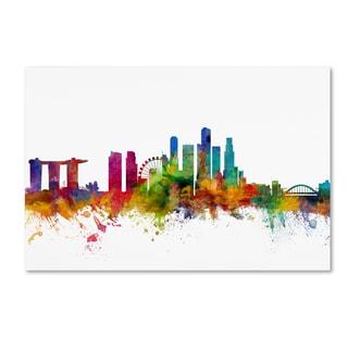 Michael Tompsett 'Singapore Skyline' Canvas Wall Art