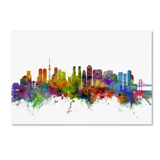 Michael Tompsett 'Tokyo Japan Skyline' Canvas Wall Art