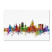 Michael Tompsett 'Aberdeen Scotland Skyline II' Canvas Wall Art