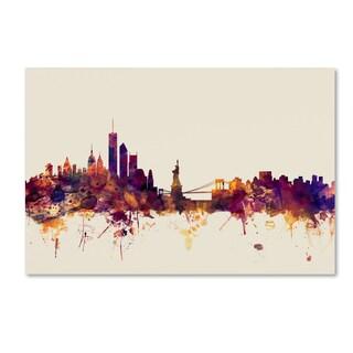 Michael Tompsett 'New York Skyline' Canvas Wall Art