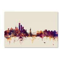 Michael Tompsett 'New York Skyline' Canvas Wall Art - Multi