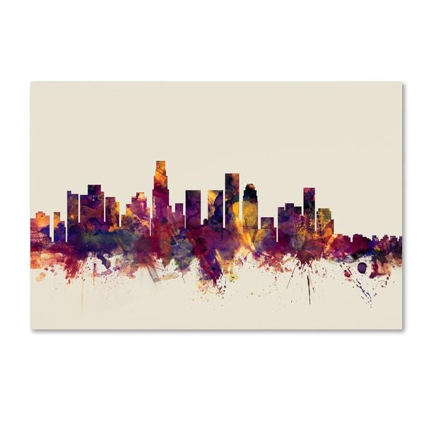 Michael Tompsett 'Los Angeles California Skyline' Canvas Wall Art