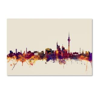 Michael Tompsett 'Berlin Germany Skyline II' Canvas Wall Art