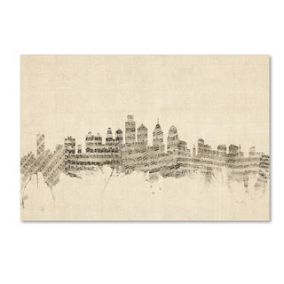 Michael Tompsett 'Philadelphia Skyline Sheet Music II' Canvas Wall Art