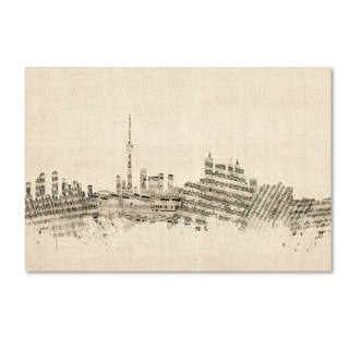 Michael Tompsett 'Toronto Canada Skyline Sheet Music' Canvas Wall Art
