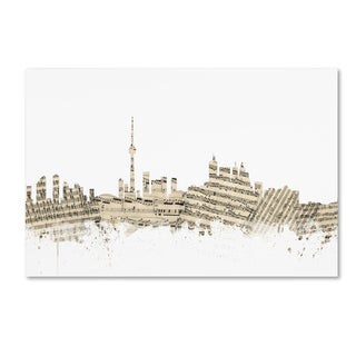 Michael Tompsett 'Toronto Canada Skyline Sheet Music II' Canvas Wall Art