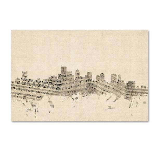 d2f135907feb Shop Michael Tompsett 'Boston Massachusetts Skyline Sheet Music ...