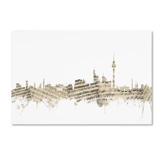 Michael Tompsett 'Berlin Germany Skyline Sheet Music II' Canvas Wall Art