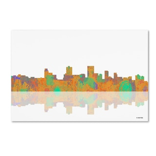 Marlene Watson 'Anchorage Alaska Skyline' Canvas Wall Art
