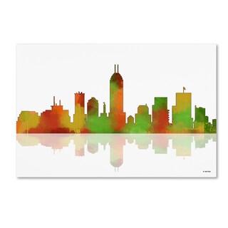 Marlene Watson 'Indianapolis Indiana Skyline' Canvas Wall Art