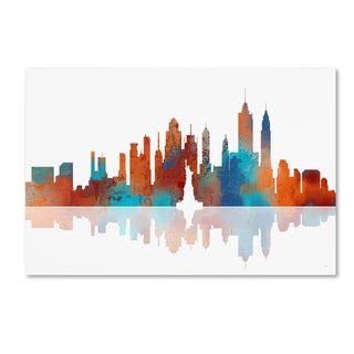 Marlene Watson 'New York New York Skyline' Canvas Wall Art