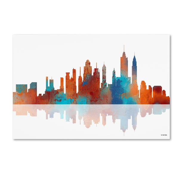 Marlene Watson 'New York New York Skyline 2' Canvas Wall Art - Multi