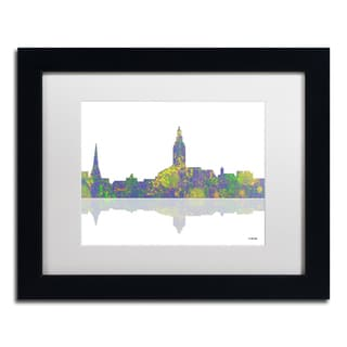 Marlene Watson 'Annapolis Maryland Skyline' White Matte, Black Framed Wall Art
