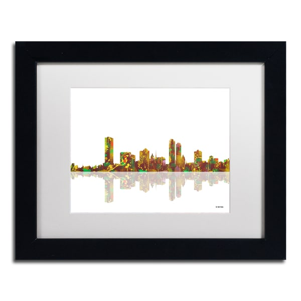 marlene watson milwaukee wisconsin skyline white matte black