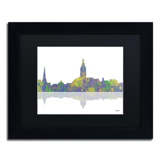 Marlene Watson 'Annapolis Maryland Skyline' Black Matte, Black Framed Wall Art