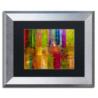 Michelle Calkins 'Color Abstract' Black Matte, Silver Framed Wall Art
