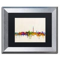 Michael Tompsett 'Washington DC Skyline' Black Matte, Silver Framed Wall Art