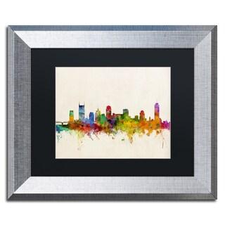 Michael Tompsett 'Nashville Skyline' Black Matte, Silver Framed Wall Art