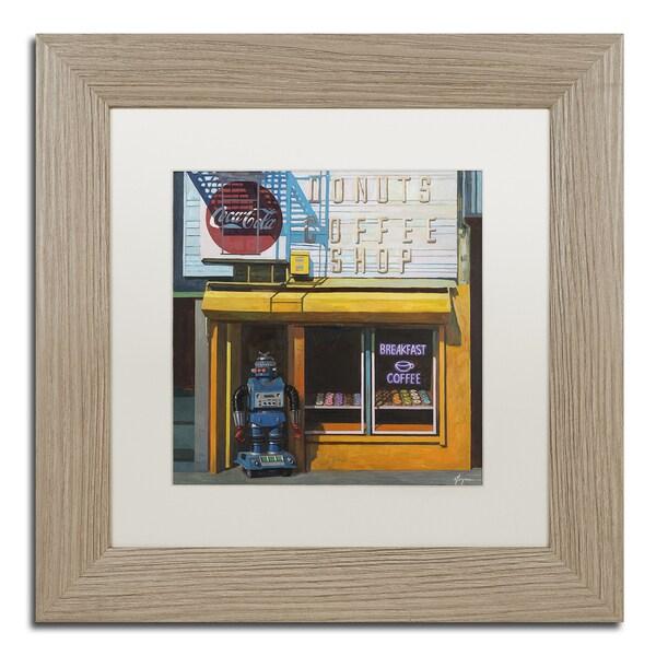 Shop Eric Joyner \'Blue Zeroid\' White Matte, Birch Framed Wall Art ...