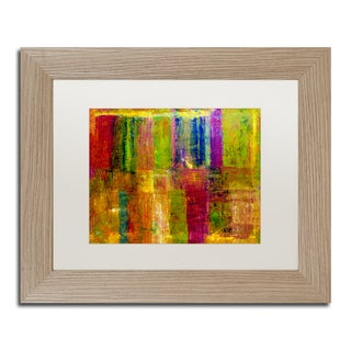 Michelle Calkins 'Color Abstract' White Matte, Birch Framed Wall Art